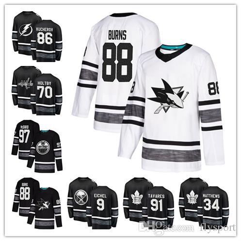 best service 78d71 bea91 2019 All Star Jersey Hockey Game 9 Jack Eichel 13 Mathew Barzal 34 Auston  Matthews #91 70 Braden Holtby good qulity