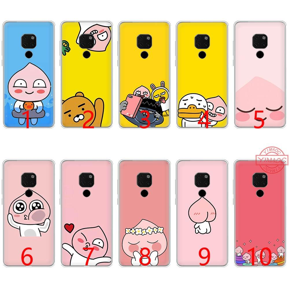 Korean cartoon funny cocoa Soft Silicone TPU Phone Case for Huawei Mate 20 10 Pro Nova 2i 3 3i 4 Lite