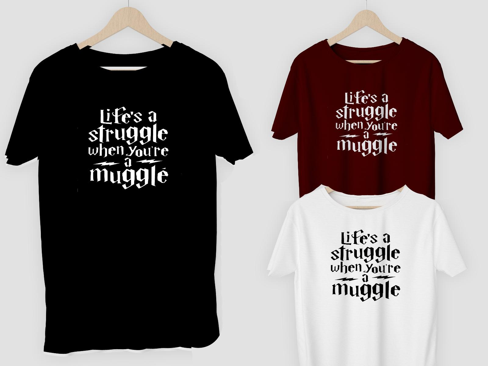 888bf5bc Life A Struggle Muggle T Shirt Or DIY Vinyl Gifts For Christmas Harry  Potter Funny Unisex Tshirt Top Cool Tees Graphic T Shirt From Tshirtbakers,  ...