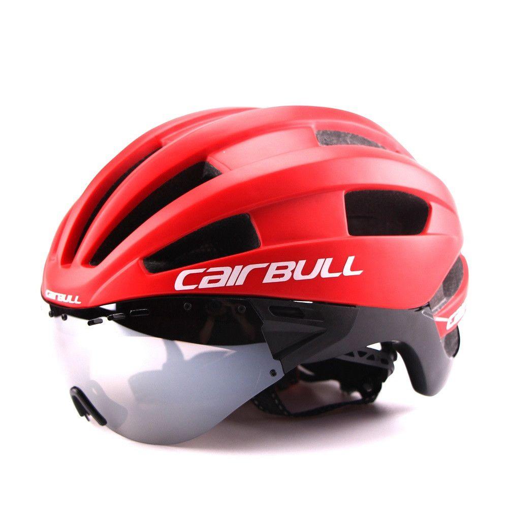 Ultra-light 235g Goggles Cycling Helmet Road Mountain MTB Bicycle Helmet In-mold Bike Helmet With Sun Visor Helmet M54-58cm (7)_