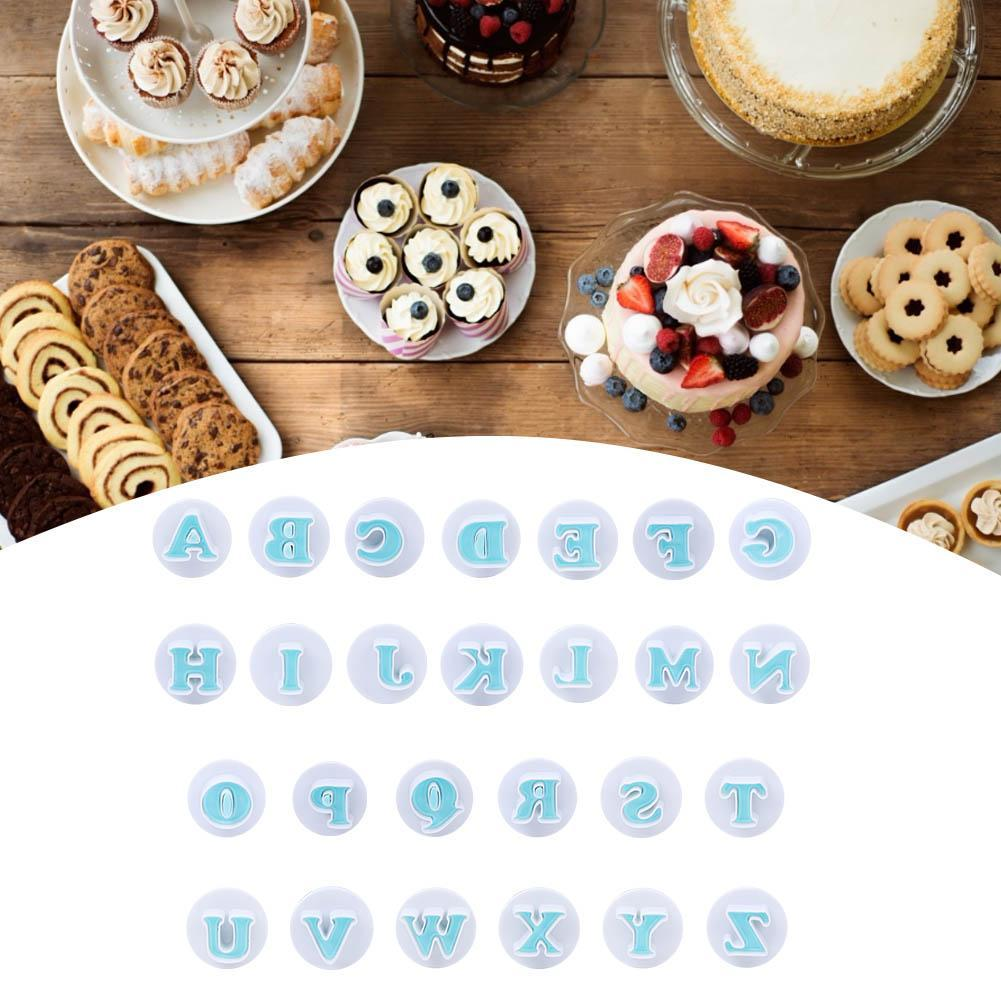 26 Pcs Alphabet Letters Biscuit Cookies Cutters Molds Bakery Cake Decorating Tools Kitchen Accessories
