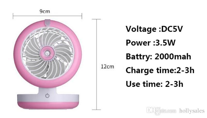 محمول USB قابلة لإعادة الشحن تبريد ميني هاندي مروحة تبريد مكتب جيب ماء ضباب تبريد الهواء المرطب مروحة تستخدم powerbank