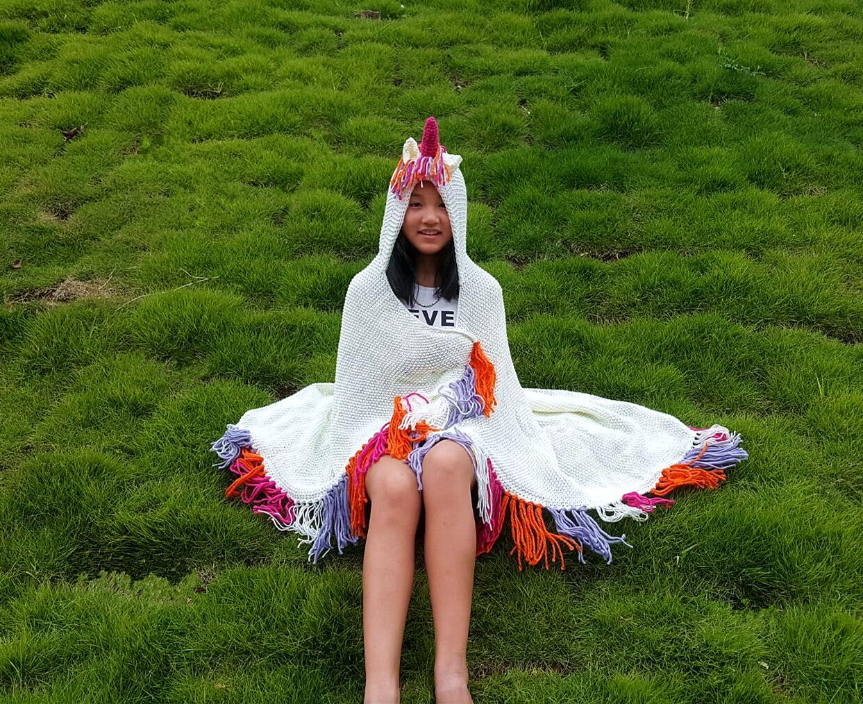 Großhandel 2018 Mode Einhorn Decke Mit Kapuze Für Mädchen Tragbare
