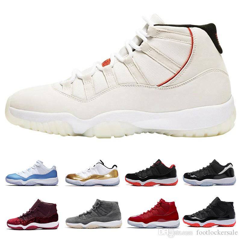 XI Mens Basketball Shoes Platinum Tint Concord 45 Prom Night Gym Bred Barons Cool Grey Designer Sports Zapatillas de deporte Zapatos para mujer