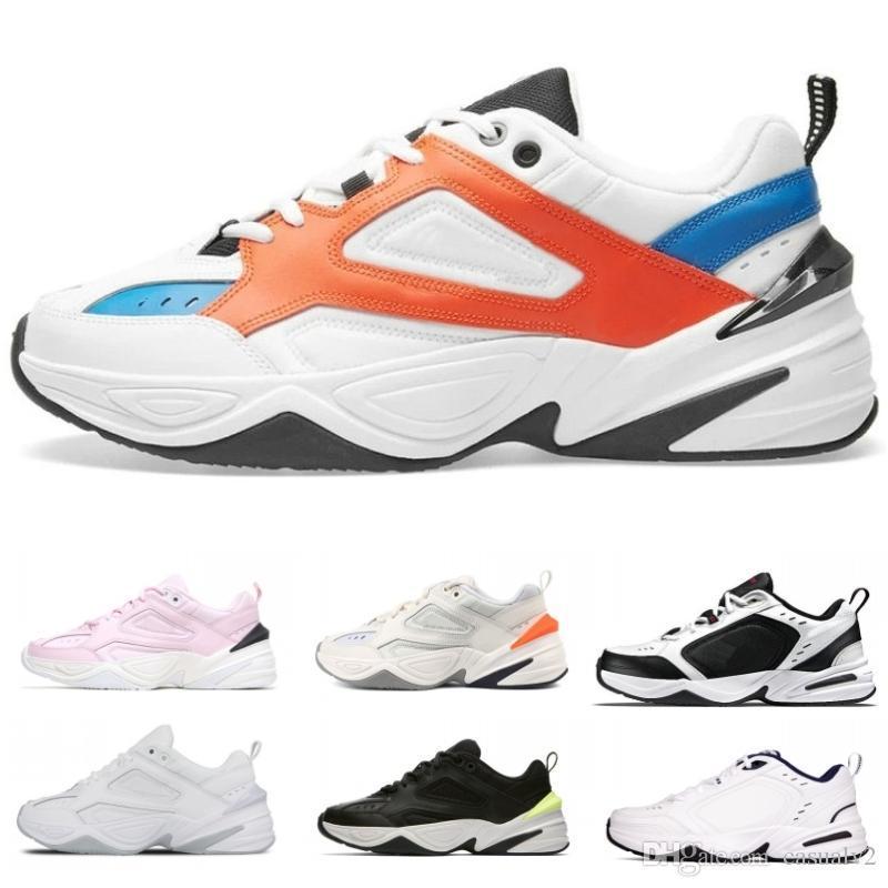 sale retailer 2fa55 399b4 Nike 2019 Originales Monarch 4 Nike M2k Tekno Hombres De Cuero Zapatos Para  Correr Blanco Azul Rojo Zapatos De Los Hombres Moda Casual Mujer Deportes  ...