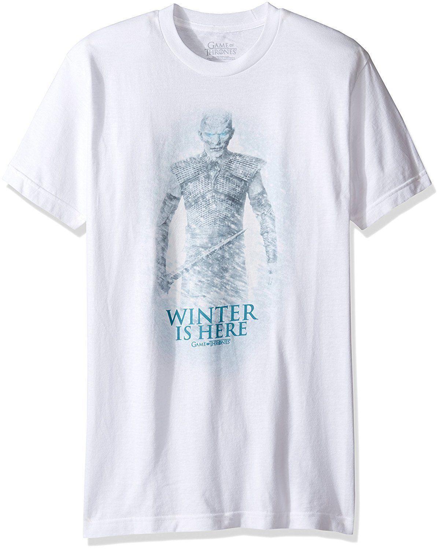 Acheter Authentique T Shirt Blanc S 2XL HBO Night King HBO Night King  L hiver Est Arrivé NOUVEAU De  10.28 Du Happyjapanuk  d279e31dd