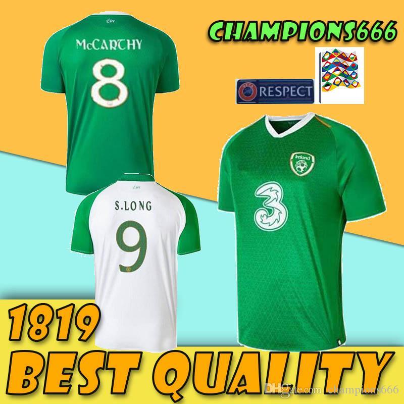 2b1ae9c64f7bc Compre 2019 Camisas De Futebol Da Irlanda 18 19 Irlanda Home MULLER CLARK  WHELAN Camisa De Futebol MURPHY LONG BRADY MAGUIRE WARD DUFFY Uniforme De  Futebol ...