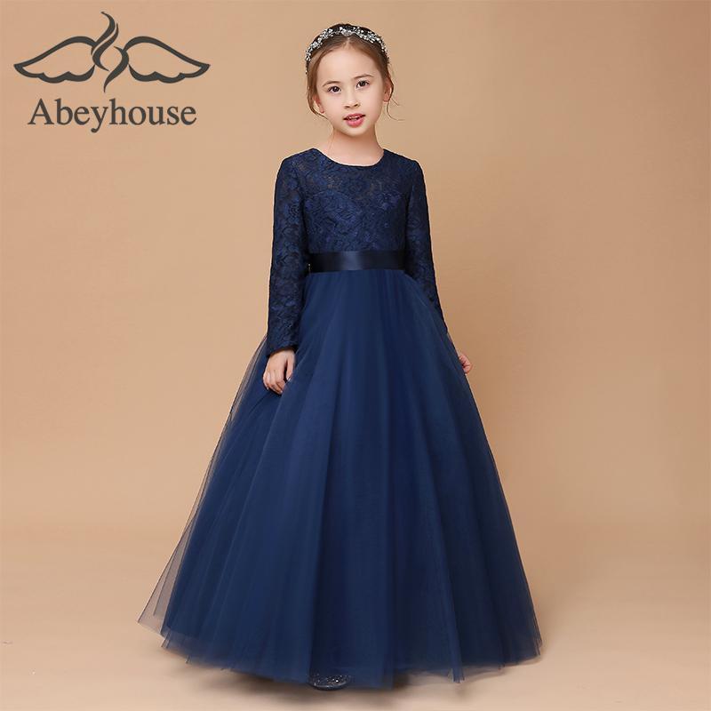Girls Princess Dress Piano Performance Clothing Flower Small Host