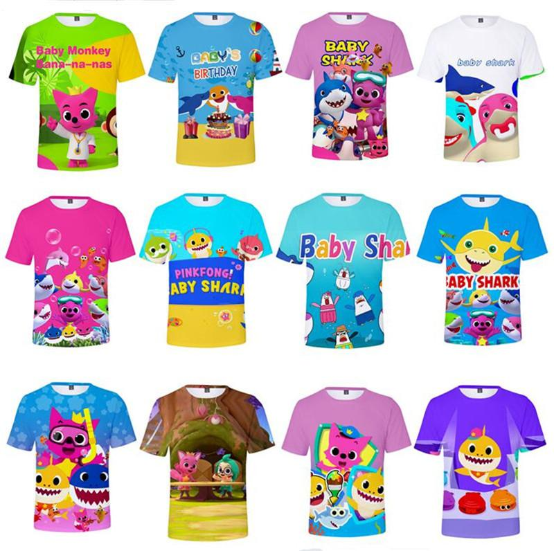 a277dd259 2019 Baby Shark T Shirts For Kids Adults Men Women 26 Styles Baby Shark T  Shirt Kids 110 160 Cartoon Baby Shark Clothing Kids Gifts XXS 4XL A419 From  ...