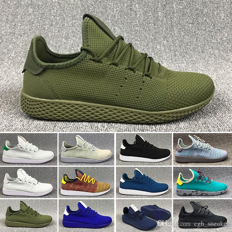 new product 85da3 5bf34 2019 mens Human Race Hu trail pharrell williams running shoes Cream White  Holi women trainers designer sports runner sneakers size 5-11