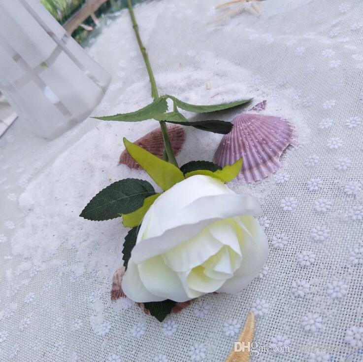 زهرة اصطناعية 60CM محاكاة روز الزفاف الديكور الحرير الزهور روز باقة واحدة الجذعية الزهور الرئيسية الطرف ريال اللمس وهمية الزهور