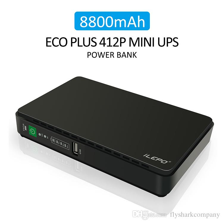 iLepo POE 430 Mini UPS Uninterruptible Power System for Router with POE  functions,New UPS Built-in 8800mAH Lithium battery Power bank