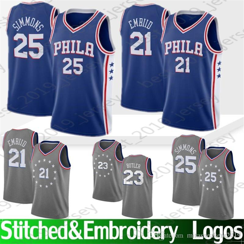 9d36c0b9547 2019 Philadelphia 21 Embiid Joel 25 Simmons Ben 76ers Jersey 23 Butler  Jimmy 3 Iverson Allen 6 Erving Julius 17 Redick J.J.20 Fultz Markelle From  ...