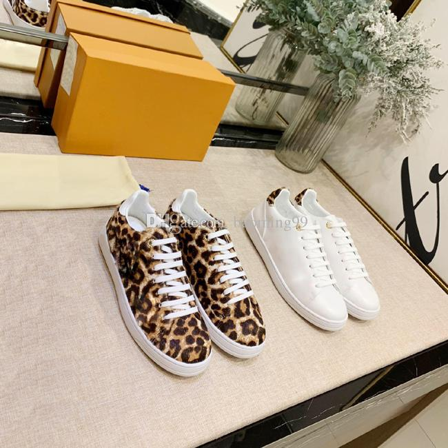 2019 New Arrival Fashion Men Women Casual Shoes leopard print Designer Sneakers Shoes Top High White Genuine Leather Classic Flower Shoes