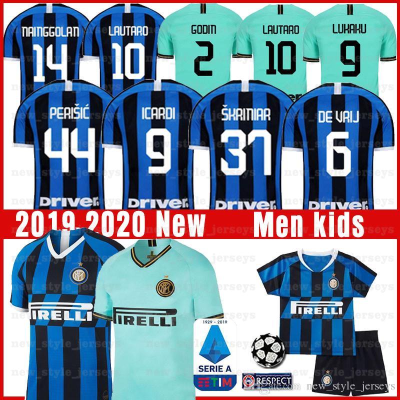 new products f2056 97b7d LUKAKU ICARDI LAUTARO SKRINIAR Inter 2019 2020 BROZOVI Milan soccer jersey  GODIN BARELLA PERISIC NAINGGOLAN jerseys football top kit shirts