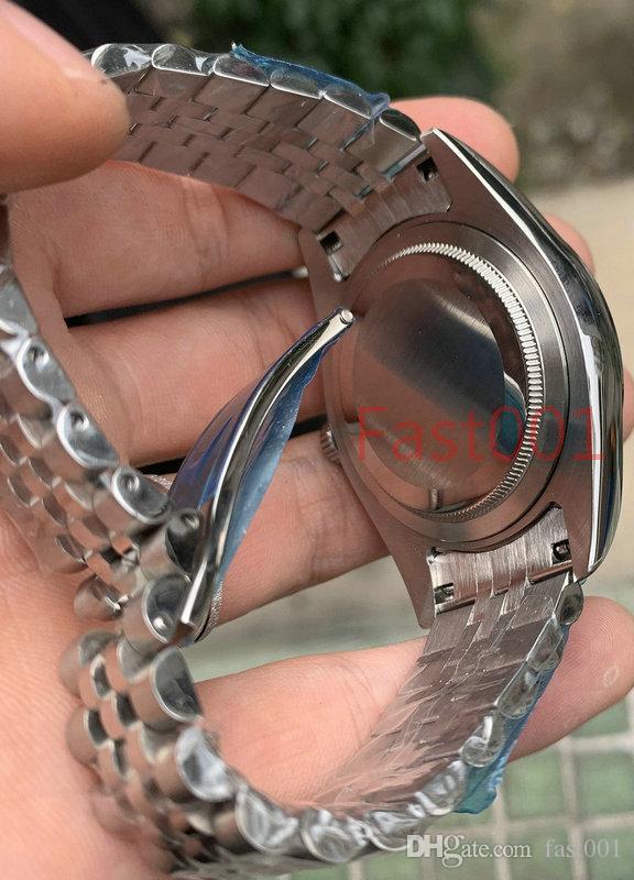 Mens Watch 2813 기계식 자동 무브먼트 41mm 스테인레스 스틸 시계 패션 남성 데이트 그냥 디자이너 남자 시계 손목 시계