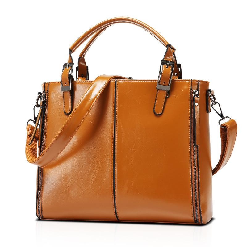 The Trend Of 2019 Women S Bags Single Shoulder Satchel Western Style Leather  Handbag High Quality Handbag Case Bag Messenger Bags Laptop Bags From ... 45b14967a6a3e