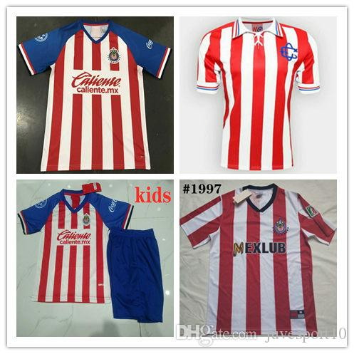 on sale 43a6b a0dbf 1997 Chivas Retro soccer jerseys 19 20 Guadalajara 110 years Retro classic  regal football shirt Size S-2XL