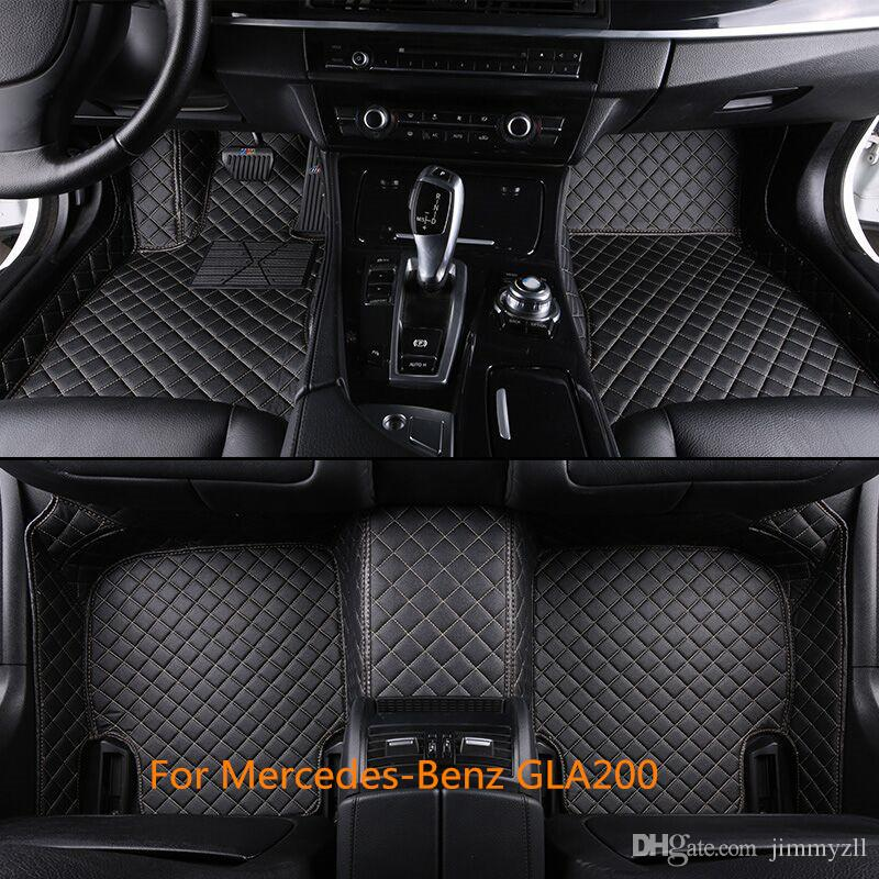 Luxury 6 Colors Front & Rear Liner Waterproof Skidproof Man-Made Leather Car Floor Mats For Mercedes-Ben GLA200 2013-2016
