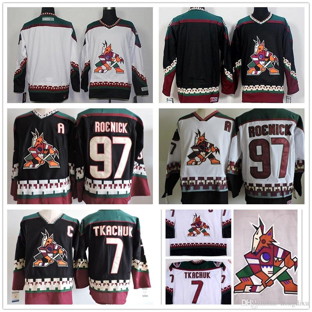 Wholesale Mens Arizona Coyotes JEREMY ROENICK Hockey Jerseys  7 KEITH  TKACHUK PHOENIX COYOTES 1990s Black Classic Vintage Jersey S 3XL UK 2019  From Hongdixu ... d10c873c4