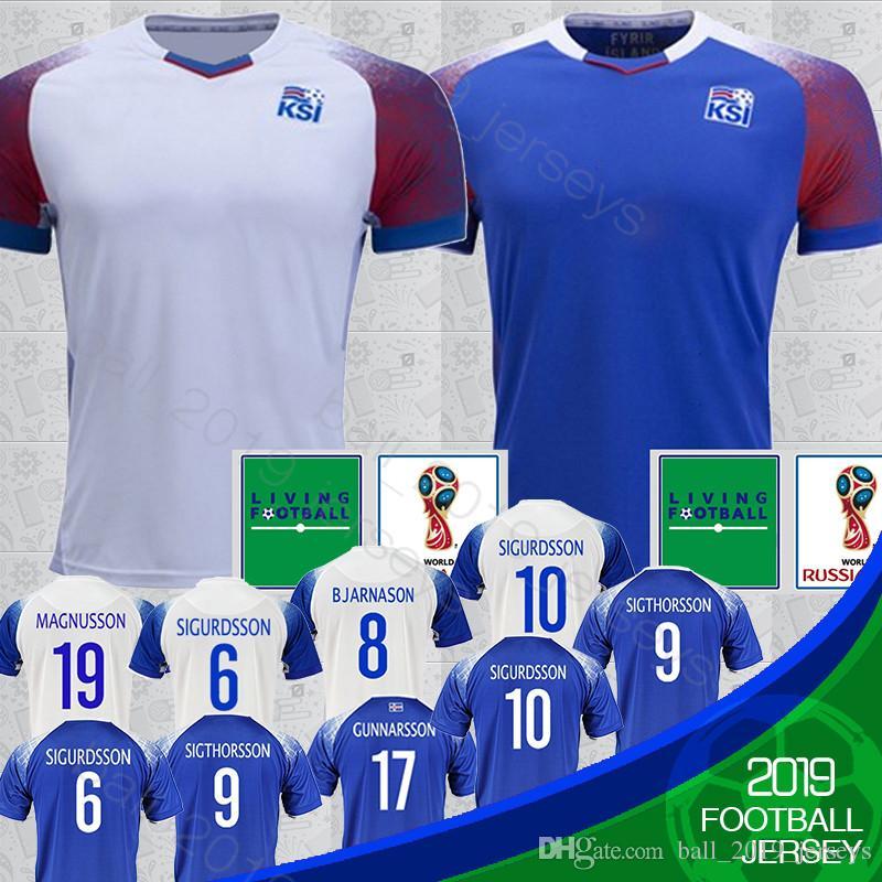 promo code a2544 ff717 18 19 Iceland jerseys 2018 World Cup Iceland 6 GUDMUNDSSON 10 G.SIGURDSSON  Soccer Jersey 9 SIGTHORSSON 21 TRAUSTASON football jerseys