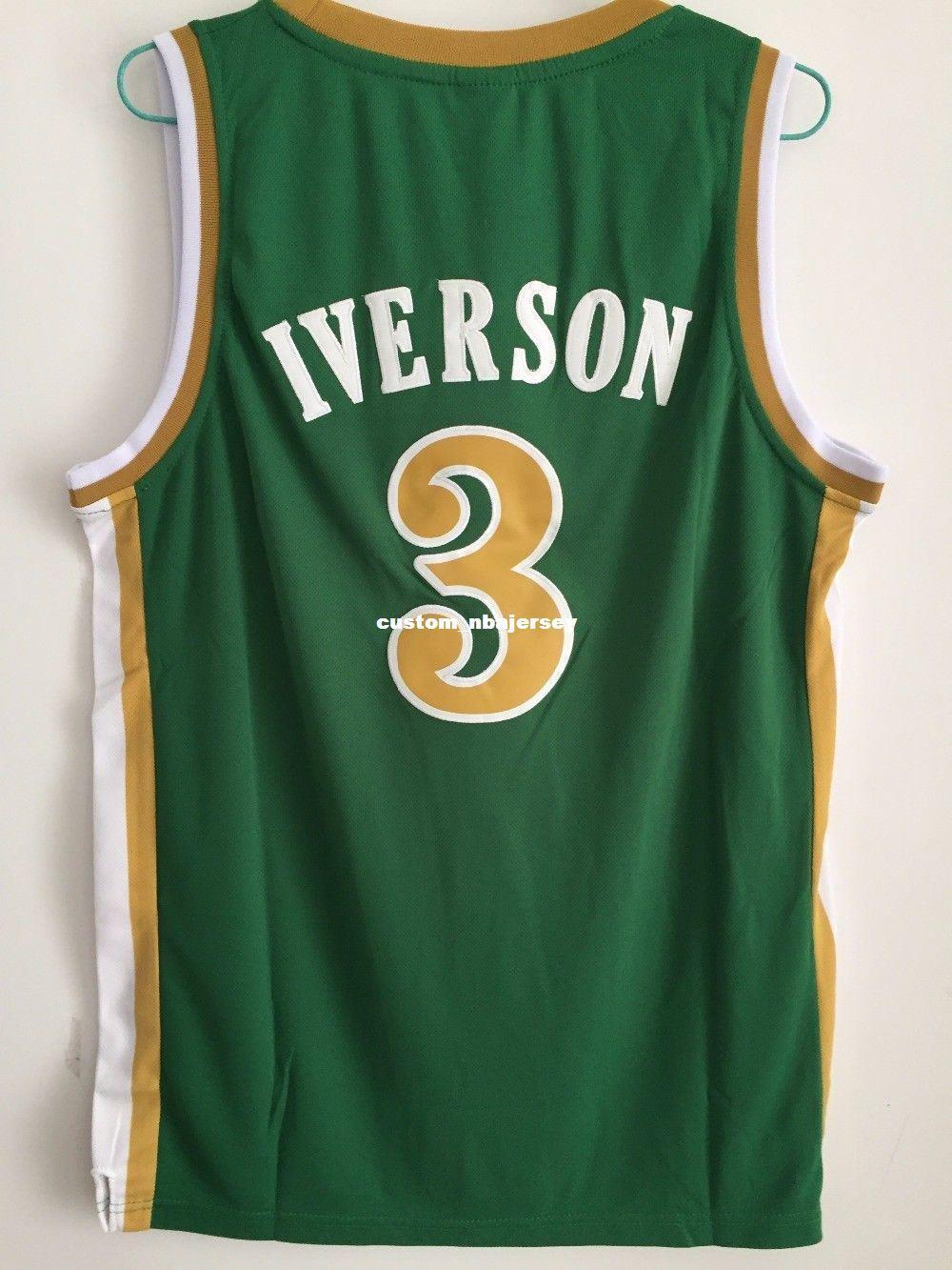 Cheap Custom  3 Allen Bethel High School Basketball Jersey XS 5XL Green  Stitch Customize Any Number Name MEN WOMEN YOUTH XS 5XL UK 2019 From ... 3b3c2a644