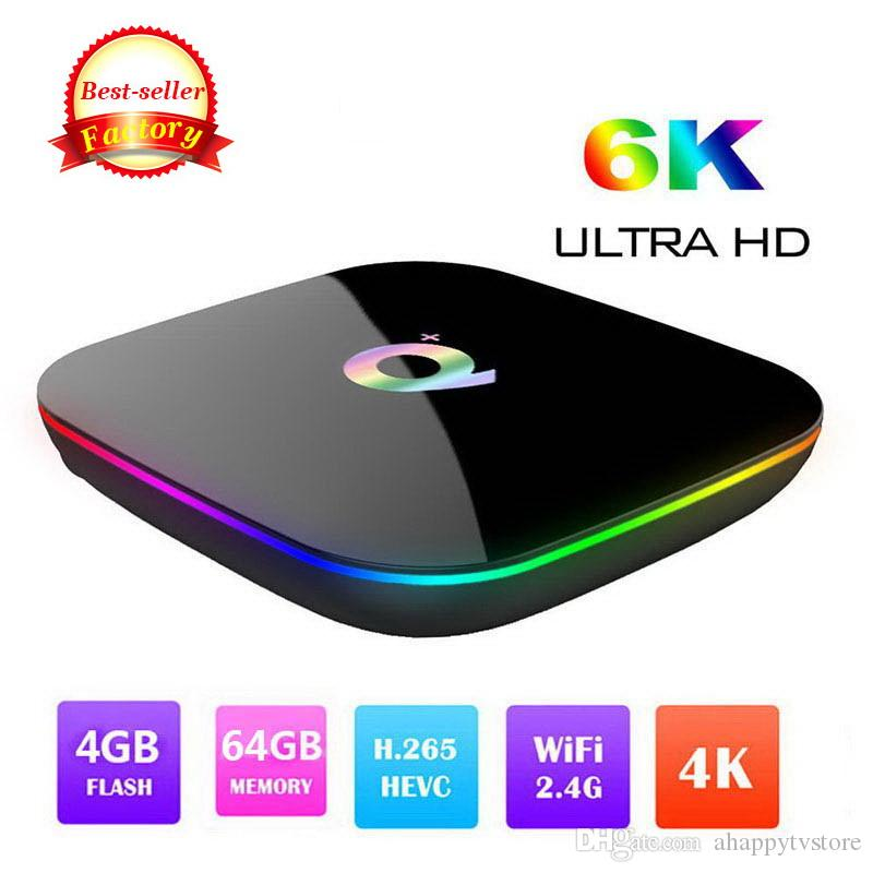 2019 Q PLUS Android 9.0 TV Box 4GB 32GB 64GB Wifi 2.4GHz Quad-core cortex-A53 HDMI 2.0 Smart TV Media Player Support 6K 3D H.265 IPTV live