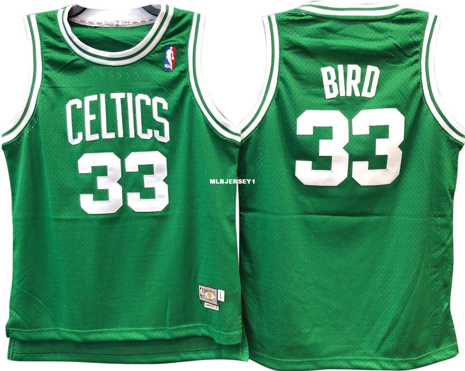 the best attitude dba74 f55ed LARRY BIRD #33 Green Sewn high quality Retro Vintage Top JERSEY Mens Vest  Size XS-6XL Stitched basketball Jerseys Ncaa