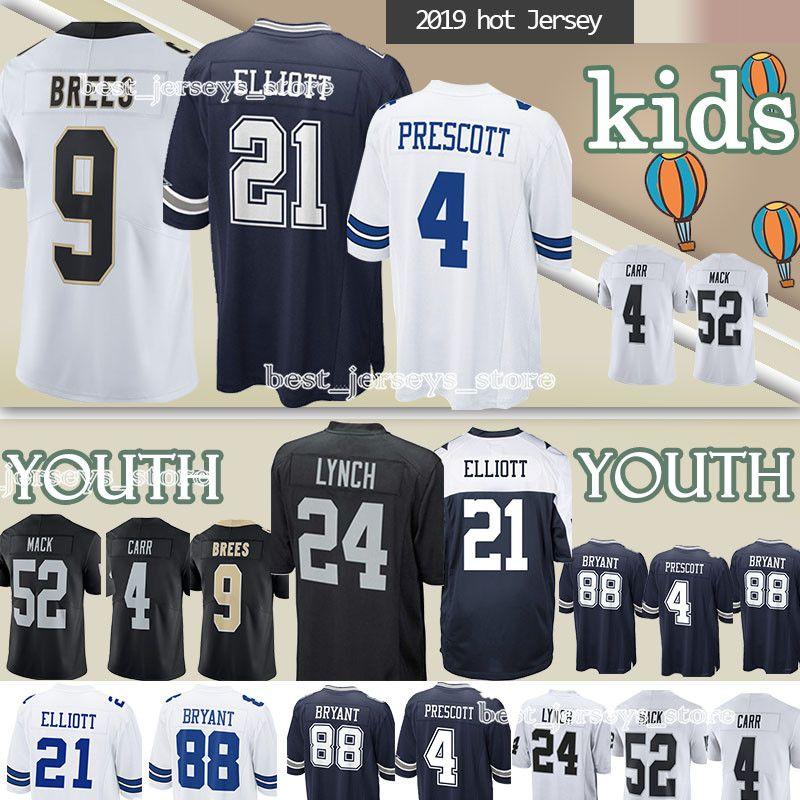 the best attitude cee66 7ec10 Kids Dallas Cowboys New Orleans Saints Oakland Rainders jerseys child 9  Drew Brees 88 Dez Bryant jersey YOUTH