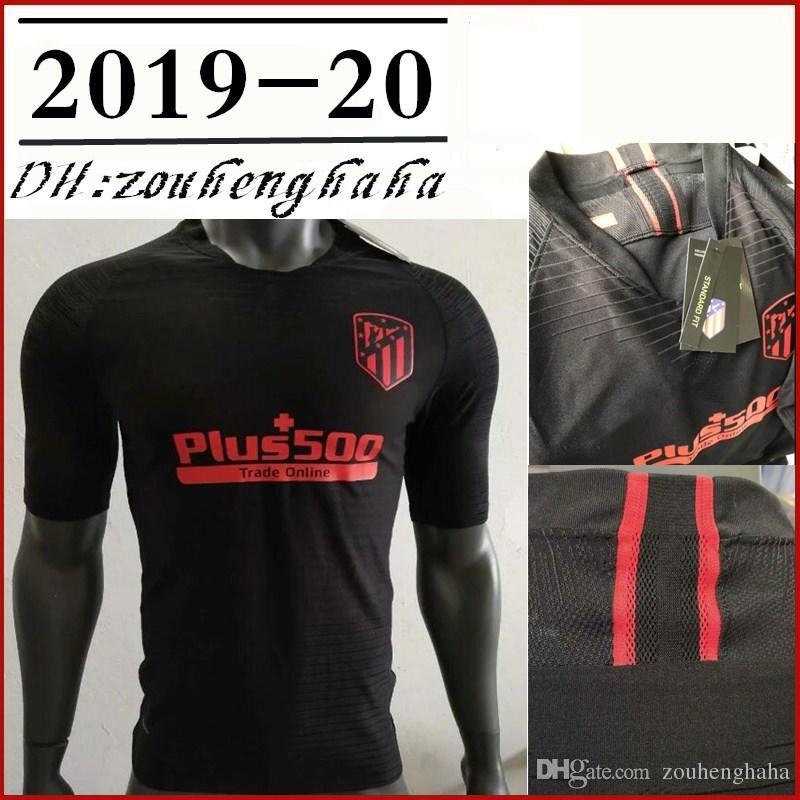 quality design 26e95 99b91 2019 2020 Men Atletico Madrid away Black Player Jersey 19 20 GRIEZMANN KOKE  SAVIC SAUL DIEGO COSTA THOMAS Player version Camiseta de futbol