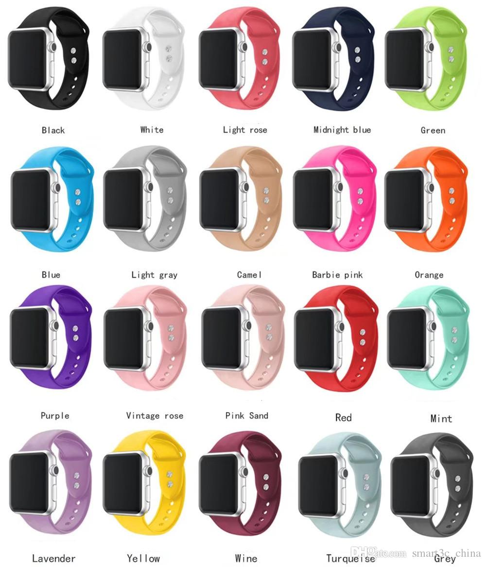 Band For Apple Watch Series 3 2 1 38MM 42MM Soft Silicone Breathable  Replacement Strap Sport Loop for iwatch4 40MM 44MM