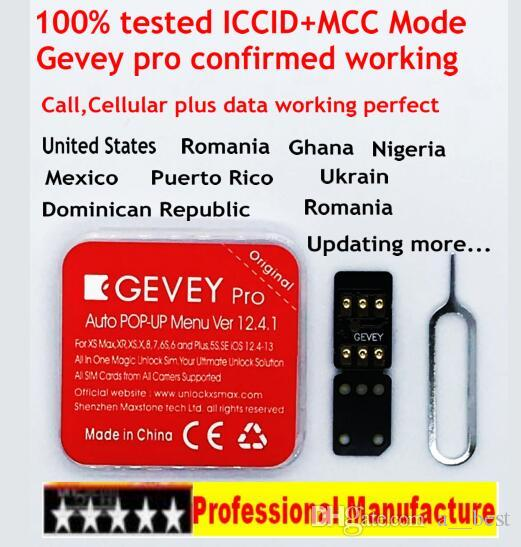 2019 Gevey pro ICCID +MCC Mode universal unlock for iPhone Xs max xr XS/8/7/6 4G iOS 12.4.1 turbo sim chips IOS 12.X AT&T T-mobile Sprint