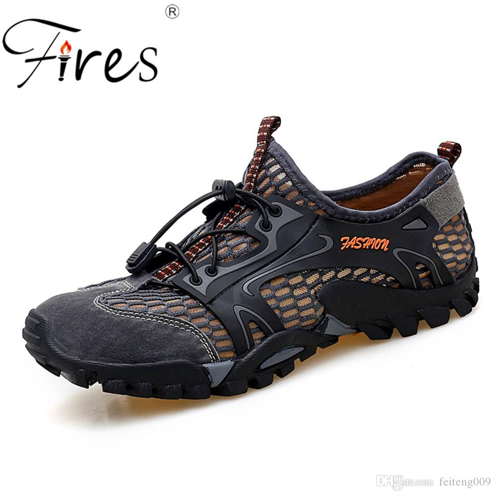 1e93d24acf8 Men Outdoor Sneakers Breathable Men s Hiking Shoes Man Sports Outdoor  Climbing Shoes Sandals Summer Trekking Water #4462