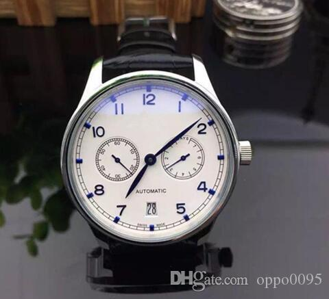 High Quality Luxury IW500705 White With Blue Dial IW500107 7 Day Power Reserve Automatic Mens Watch Leather Strap Watches