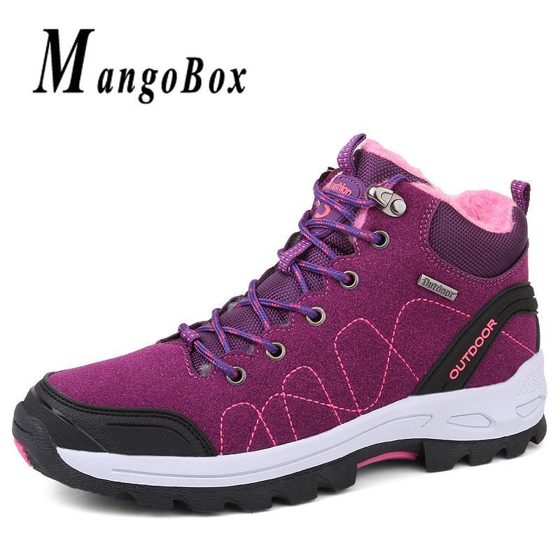 Mujer Trekking Invierno Senderismo Para Mujeres Piel De Altas Al Aire Caza Negro Con Otoño Botas Zapatos Zapatillas Libre wPZuOXiklT