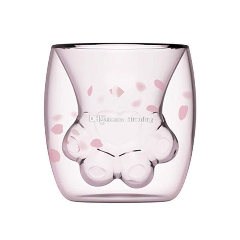 300ML Cat Glass Heat Resistant Mug Tea Milk Coffee Beer Juice Cup With Handle US