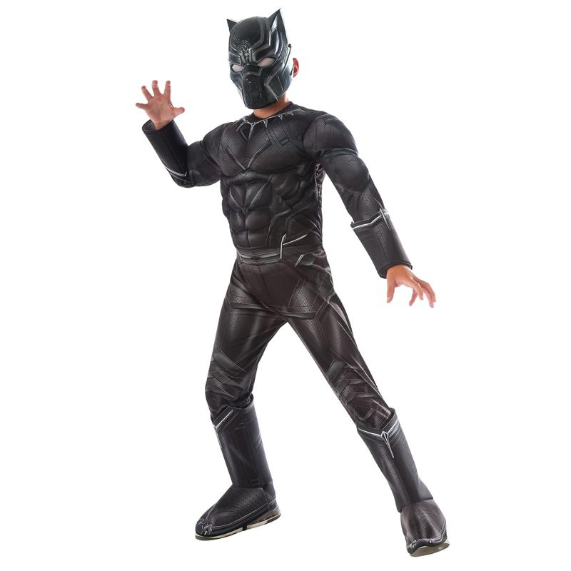 High Quality Wholesale Price Boys Civil War Black Panther Deluxe Costume Halloween Costume Adult Death Cosplay Costumes