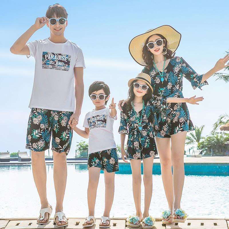 a0c6a4792c Summer Family Look Mother Daughter Matching Dresses Mommy And Me Clothes  Mom Mum Girl Dress Dad Son Outfits Family Clothing Sets Awful Family Photos  Mommy ...