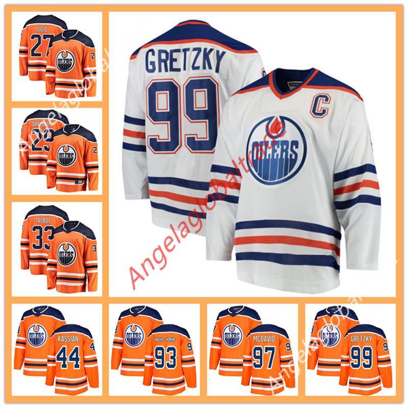 Men's 2019 Edmonton Oiler jersey 97 McDavid 99 Wayne Gretzky 29 Leon  Draisaitl 27 Milan Lucic 93 Ryan Nugent-Hopkins hockey jerseys