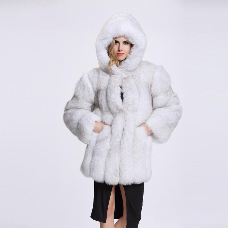 ce7c73271cb 2019 ZADORIN Fashion 2018 Plus Size Faux Fur Coat With Hooded Women Thick  Warm Faux Fur Jacket Women Winter Outerwear Coats From Yingluo