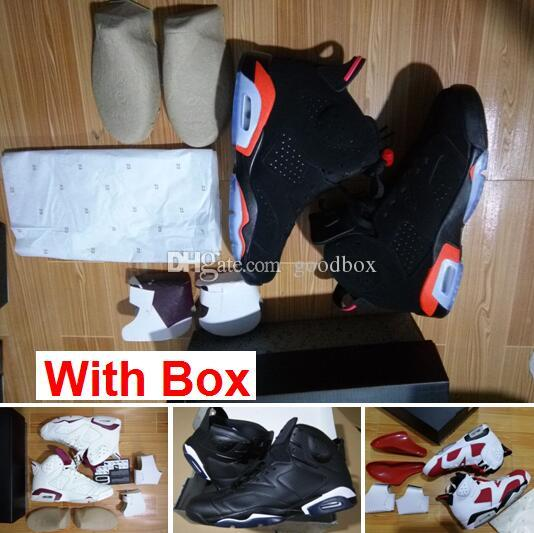86ea4c59dbbd94 Infrared 6S VI Black 6 Infrareds Black Legend UNC Blue MAROON 6 Cement  Wholesale Basketball Shoes Men Discount Shoes Shoe Shops From Goodbox