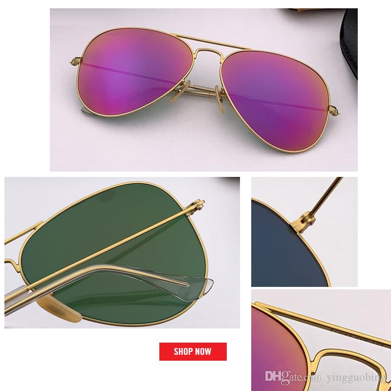 2019 new summer hot sale Mirror aviation Sunglasses Men Women Vintage Design Oculos de sol masculino brand UV400 gafas 55mm 58mm 62mm