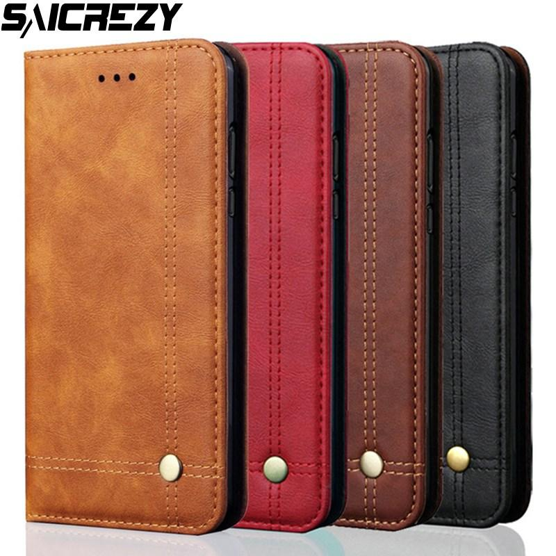 lowest price 71a3d c647e Luxury Retro Slim Leather Flip Case For Huawei P30 Lite Mate 20 Pro Nova 3i  4 Wallet Card Stand Magnetic Phone Cover Honor 10