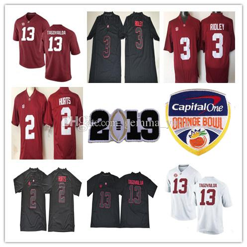a5b8eb8d833 2019 2019 Championship Alabama Crimson Tide Tua Tagovailoa Jaylen Waddle  Jerry Jeudy Jalen Hurts Damien Harris Namath Wilson Man Kids Jerseys Red  From ...