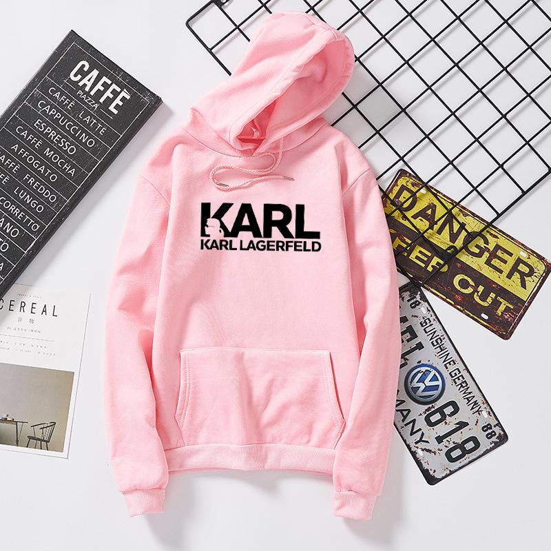 9a135f23e Compre Camisa Karl Lagerfeld Hoodies Mulheres Vogue Camisola Da Marca  Designer Pullovers Tumblr Jumper Senhora Casual Treino De Biangye