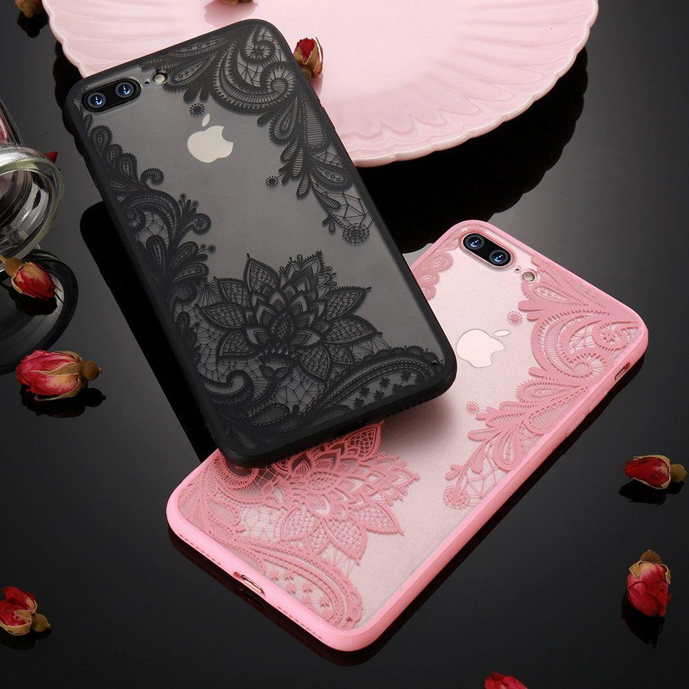 d2dc47af3f3 Compre Kisscase Phone Case Para Iphone 5s 5 Se 6 S 6 7 8 Além De Luxo Lace  Flor Tpu Voltar Casos Para Iphone X Xr Xs Xs Max Capa Capinhas De Pacers66,  ...