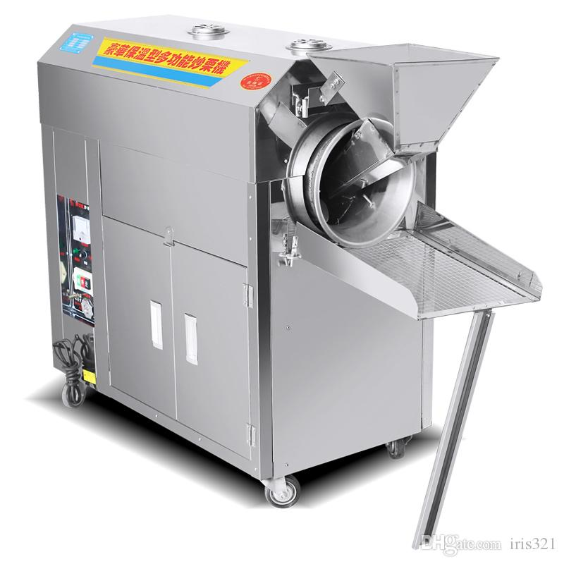 220V Vertical gas roasting machine pea nuts roaster food processing machine fried melon seeds fried peanuts 1pc