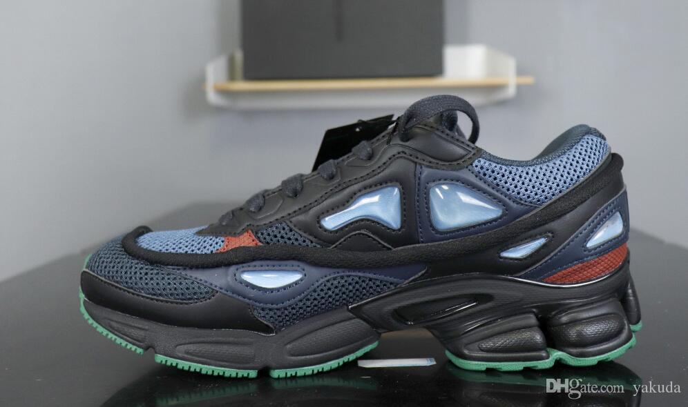 665ea91991a7 2019 2019 New Mens Raf Simons X Consortium Ozweego Bunny Cream Bunny Black  Night Marine Casual Running Shoes