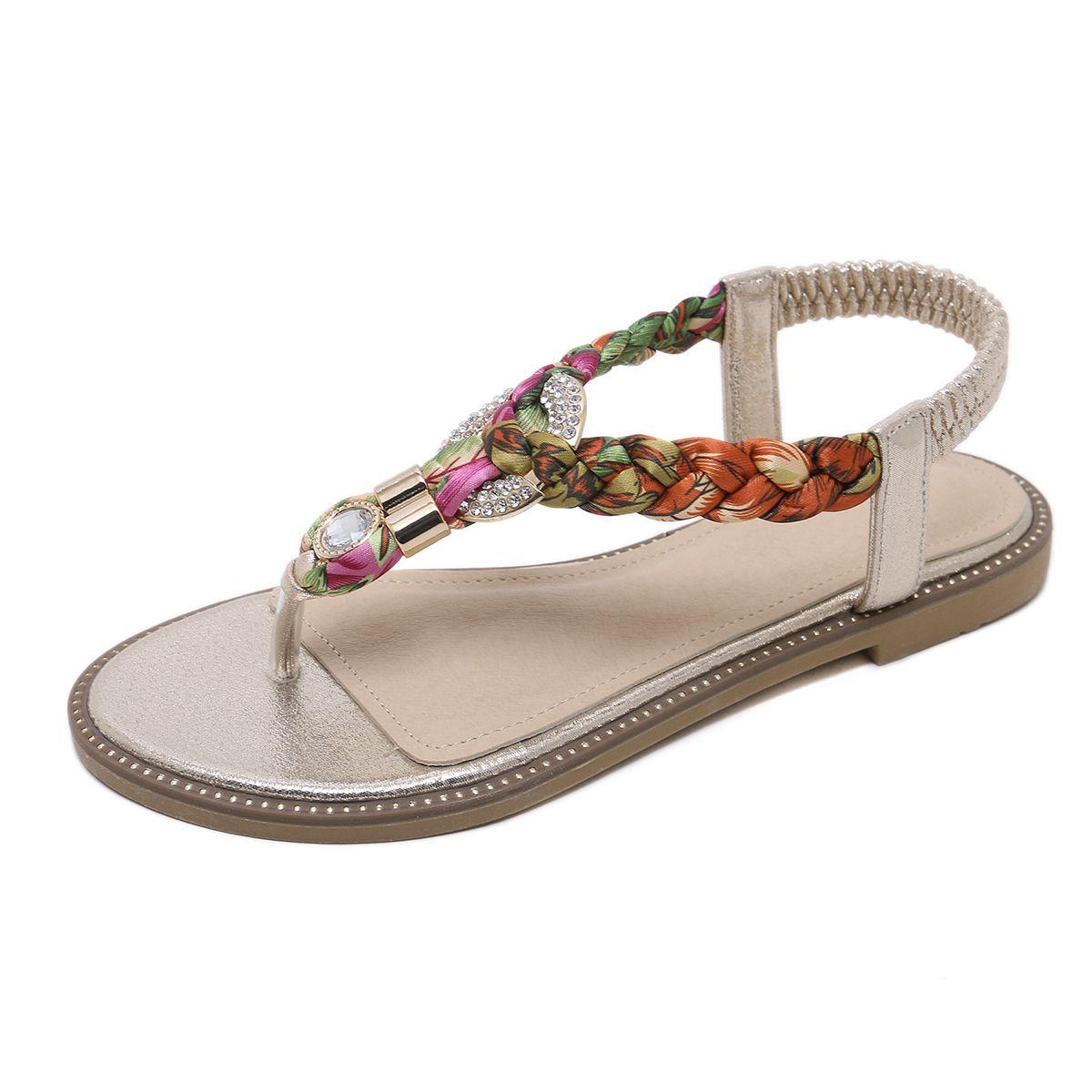 72dc02e1b Thong Sandal For Ladies Bohemia Flip Flop Sandals Walking Comfort ...