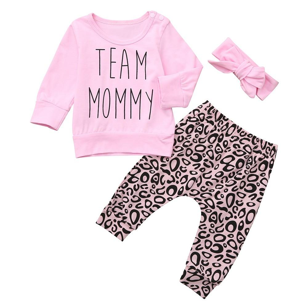 0326c4b2ab28 2019 TELOTUNY OutfitToddler Baby Letter Print Top Clothes+Leopard Print  Pants+Headbands Set Baby Clothing Fashion New NOV19 From Coolhi, $23.64 |  DHgate.Com